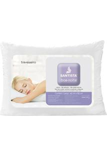 Travesseiro Boa-Noite- Branco- 65X45Cm- Santistasantista
