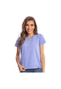 Camiseta Feminina Estonada Malha Premium Lavanda - Area Verde