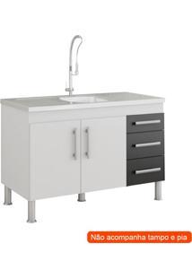 Balcão De Cozinha Flex 2 Pt 3 Gv Branco E Preto