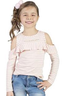 Blusa Infantil Bugbee Babados Feminina - Feminino
