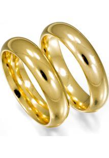 Aliança De Ouro Anatômica Oca - As0339