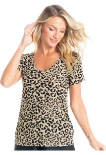 Camiseta Básica Animal Print Savanah