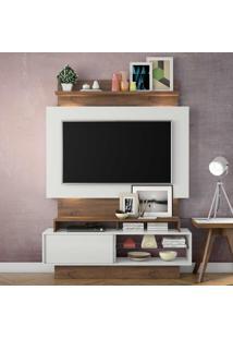 Painel Para Tv Tb111L Com Led Off White/Nobre - Dalla Costa