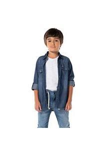 Camisa Infantil Menino Mania Kids Jeans