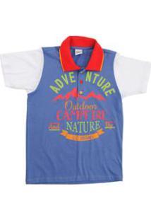 Camiseta Polo Infantil Lápis De Cor Polo Masculino - Masculino-Azul 8a5f5aff81c97