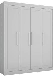 Guarda-Roupa Moka Branco Com 4 Portas E 2 Gavetas - Multimóveis