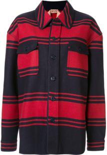 Nº21 Jaqueta Com Listras - Vermelho
