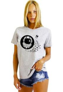 Camiseta Joss Básica Soup Astronauta Feminina - Feminino-Cinza