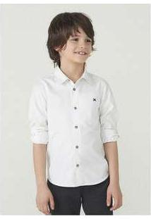 Camisa Manga Longa Menino Em Tecido De Algodão