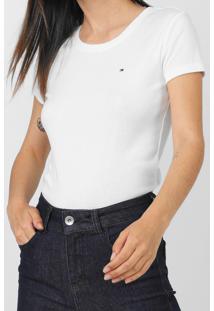 Camiseta Tommy Hilfiger Lisa Branca - Branco - Feminino - Algodã£O - Dafiti
