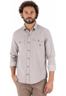 Camisa Side Walk Camisa Veludo Cinza