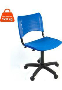 Cadeira De Escritório Secretária Evidence Fixa Azul