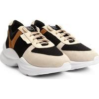 b4b863e41 Netshoes. Tênis Chunky Dumond Sneaker Recortes Feminino ...