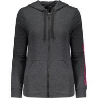 Fut Fanatics. Jaqueta Adidas Essentials Linear Feminina Grafite Mescla d18cb7d0d394e