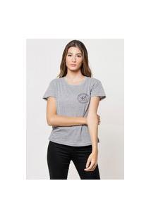 Camiseta Jay Jay Básica Best Machine Cinza Mescla