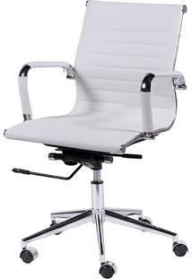 Cadeira Office Eames Esteirinha Baixa Giratória Or-3301 – Or Design - Branco