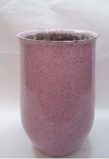 Vaso Cerâmica Rosa Med