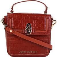 78bd6a554 Bolsa Couro Jorge Bischoff Handbag Estruturada Croco Verniz Feminina -  Feminino-Caramelo