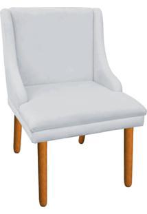 Cadeira Poltrona Decorativa Liz Suede Cinza - D'Rossi