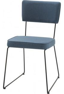 Cadeira Milan Azul Base Preta - 49680 - Sun House