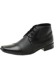Bota Sapato Social Masculino Com Cadarço Amarrar Em Material Tecnológico Slz 1081 - Kanui