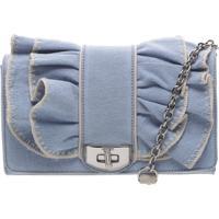 f97451aa70 Bolsa Azul feminina