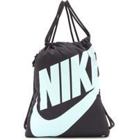69e54fc1e7 Kanui. Mochila Saco Nike Sportswear Heritage Cinza