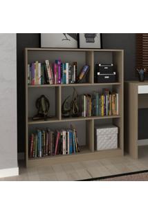 Estante Para Livros 2 Prateleiras Com Nichos Ho-2923 Avelã/Branco - Hecol