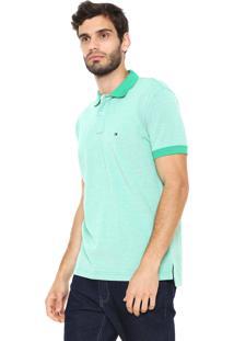 efddd69292 Camisa Polo Tommy Hilfiger Reta Essential Oxford Verde