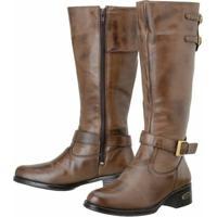 84b4daad2 Bota Marrom Montaria feminina | Shoes4you