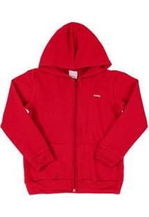 Jaqueta Infantil Quimby Molecotton Feminina - Feminino-Vermelho