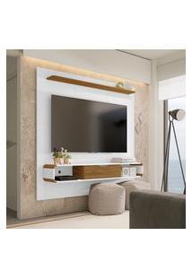 Painel Lisboa Para Tv Até 65 Pol Móveis Bechara 1 Porta Branco/Cinamomo