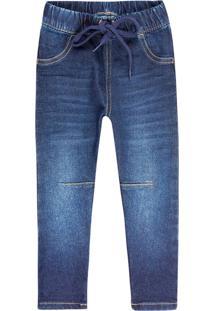 Calã§A Hering Kids Jeans Infantil Com Amarraã§Ã£O Play Jeans Azul - Azul - Menino - Dafiti
