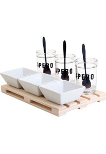 Kit 10Pçs Bandeja De Plástico E Molheiras 28X15M Lyor
