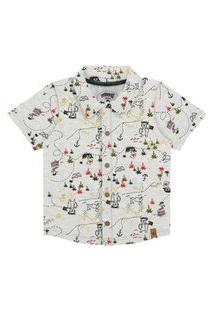 Camisa Bebê Menino Piratas Mescla - Alakazoo
