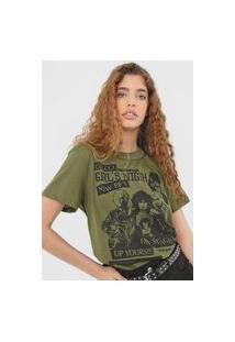 Camiseta Colcci Girl'S Night Verde
