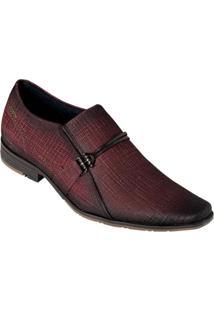 Sapato Pegada Bordô Em Couro