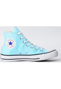 9a50686da21 Tênis Converse Chuck Taylor All Star Seasonal Hi New - Feminino-Azul Claro