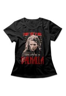 Camiseta Feminina Vikings Lagertha Preto