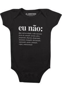 Eu Não (Masculino) - Body Infantil