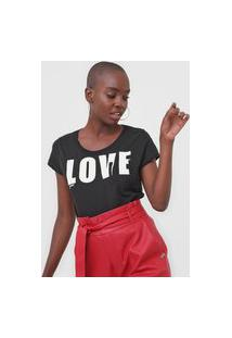 Camiseta Guess Love Preta