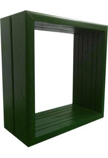 Nicho Rústico Madeira Alce Couch Verde 32X32X14