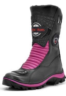 Bota Atron Shoes Motociclista 302 Pink