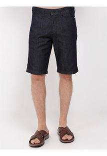 Bermuda Chino Jeans Masculina - Masculino-Azul