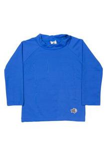 Camisa Peixinho Dourado Uv50 Azul Caneta