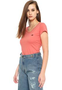 Camiseta Ellus 2Nd Floor Basic Coral