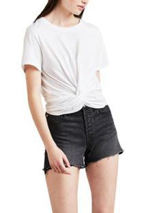 Camiseta Levis Twist Front Feminina - Feminino-Branco