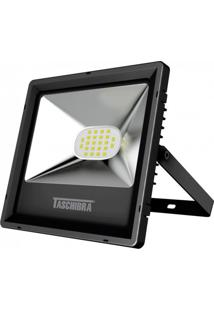 Refletor Led 20W Preto Tr Taschibra 3000K Luz Amarela