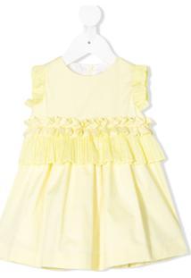Il Gufo Vestido De Festa Com Babados - Amarelo