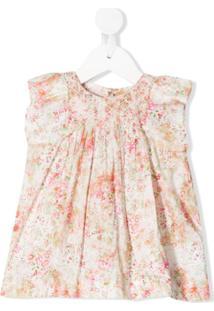 Bonpoint Vestido Sem Mangas Com Estampa Floral - Rosa